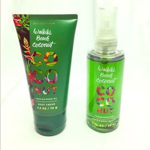 Waikiki Beach Coconut Travel Size Lotion And Spray